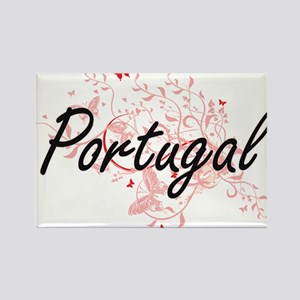 Portugal Artistic Design with Butterflies Magnets